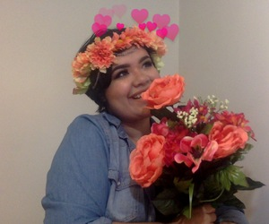 chubby, flowers, and girl image