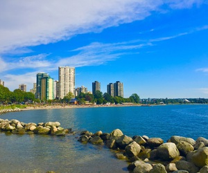 beach, canada, and summer image