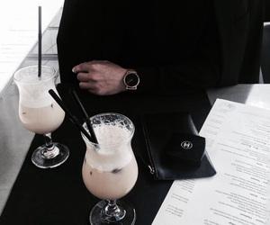 drink, black, and food image