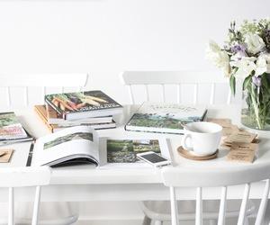 book, interior, and white image