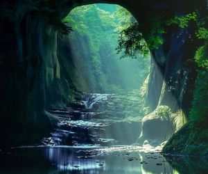 nature, japan, and cave image