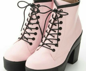 boots, pink, and goth image