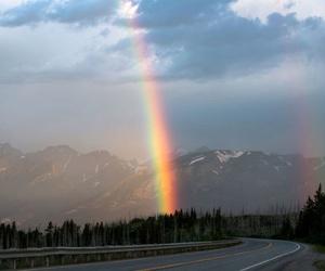 photography, rainbow, and sky image
