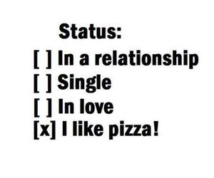 pizza, status, and single image