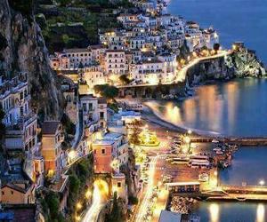 Amalfi, italy, and live image