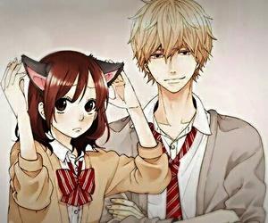 anime, kawaii, and wolf girl & black prince image
