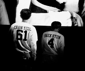 bacon, black and white, and exo image