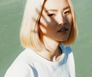 asian, green, and blonde image