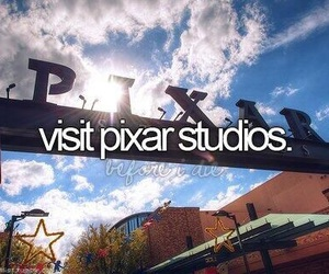 pixar, bucket list, and before i die image