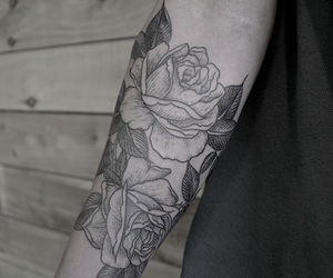 arm, goals, and tattoo image