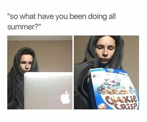 summer, cereal, and computer image