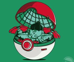 pokemon, pokeball, and bulbasaur image