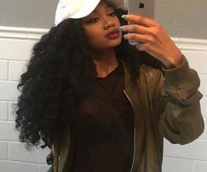 cap, hair, and melanin image