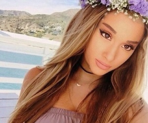 ariana grande, flowers, and beauty image