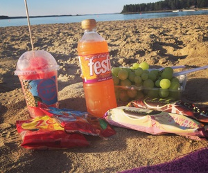 beach, grapes, and icecream image