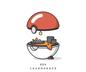 pokemon, ​charmander, and pokeball image