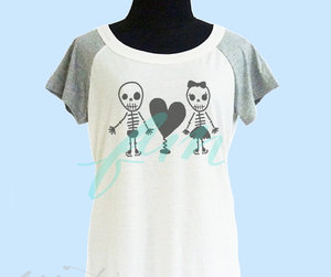 black heart, etsy, and festival shirt image