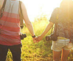 love, couple, and camera image