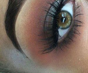 green eyes, makeup, and hazel eyes image