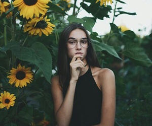 beautiful, girl, and glasses image