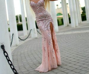 dress, girl, and glam image