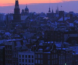 night, view, and amsterdam image
