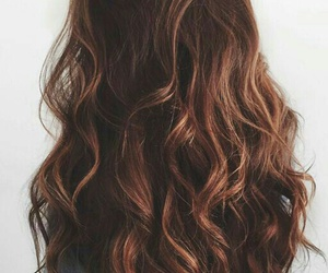 hair, brown, and brunette image