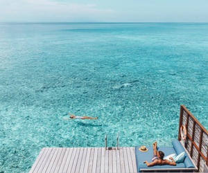 Maldives, sea, and summer image