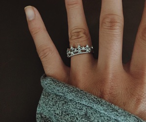 ring, hand, and princess image