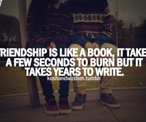 books, friendship, and write image