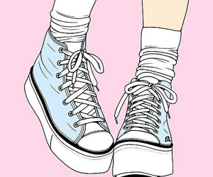 pink, shoes, and blue image