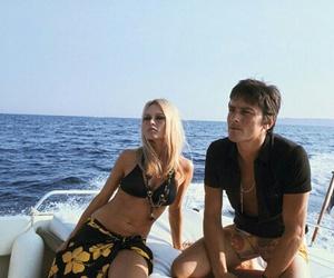 Alain Delon and brigitte bardot image