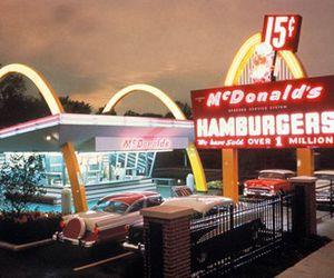 hamburger, McDonald's, and retro image