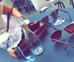 drinks, summer, and sunglasses image