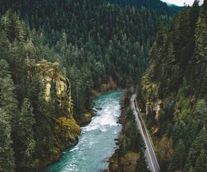 nature, river, and mountains image