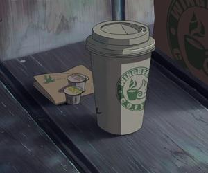 anime, gif, and coffee image