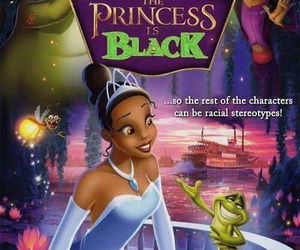 black, racist, and disney image
