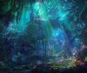 fantasy, forest, and tree image