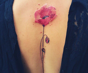 floral, tattoo, and flower image