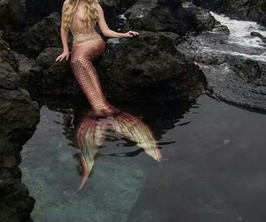 blonde and mermaid image