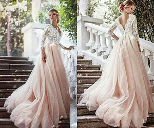 beautiful, gold, and gown image