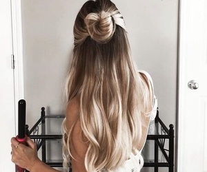 blonde, ombre, and brunette image