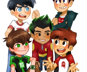 danny phantom, ben 10, and jake long image