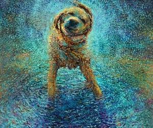 art, dog, and funny image