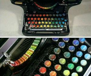 art, typewriter, and colors image