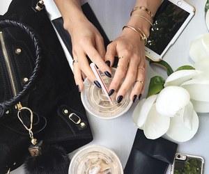 nails, coffee, and bag image