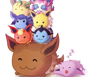 eevee, pokemon, and tsum tsum image