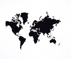 world, black, and travel image
