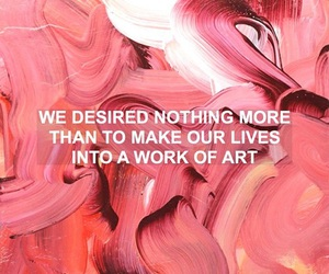 art, quote, and pink image
