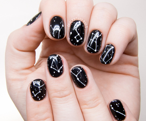 nails, stars, and black image